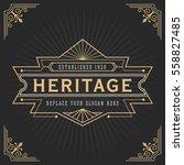 vintage line frame design for... | Shutterstock .eps vector #558827485