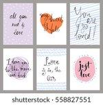 valentine's typographic... | Shutterstock .eps vector #558827551