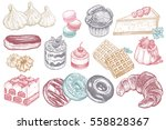 desserts and sweets color... | Shutterstock .eps vector #558828367