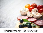 creative composition of... | Shutterstock . vector #558829381