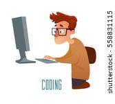 cartoon style  character in... | Shutterstock .eps vector #558831115