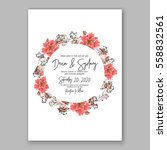 wedding invitation floral... | Shutterstock .eps vector #558832561