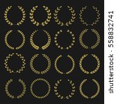 golden laurel wreaths. winner... | Shutterstock .eps vector #558832741