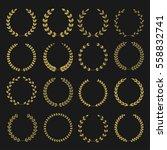 golden laurel wreaths. winner... | Shutterstock .eps vector #558832741