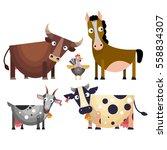 The Cartoon Farm Animals Set I...