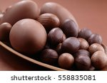 chocolate easter eggs | Shutterstock . vector #558835081
