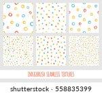 set of seamless vector free... | Shutterstock .eps vector #558835399