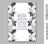 wedding invitations with... | Shutterstock .eps vector #558836254