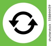 recicle arrow sign  icon simple ... | Shutterstock .eps vector #558844459