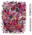 cartoon cute doodles hand drawn ... | Shutterstock .eps vector #558845191