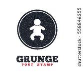 grunge post stamp. circle...   Shutterstock .eps vector #558846355