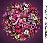 cartoon vector hand drawn... | Shutterstock .eps vector #558846661