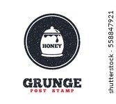 grunge post stamp. circle... | Shutterstock .eps vector #558847921