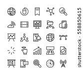 digital marketing vector icons 2 | Shutterstock .eps vector #558850615
