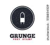 grunge post stamp. circle...   Shutterstock .eps vector #558854509
