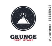 grunge post stamp. circle... | Shutterstock .eps vector #558855619