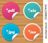 round stickers or website... | Shutterstock .eps vector #558857995