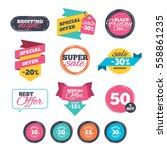 sale stickers  online shopping. ... | Shutterstock .eps vector #558861235