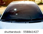 Crash Windshield Glass Of Car...