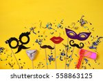 purim celebration concept ... | Shutterstock . vector #558863125