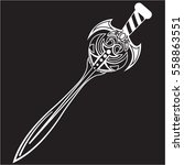 sword icon  vector medieval... | Shutterstock .eps vector #558863551