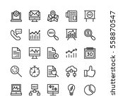 digital marketing vector icons 5 | Shutterstock .eps vector #558870547