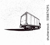 box truck. vector illustration... | Shutterstock .eps vector #558874291