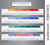 web site design menu navigation ... | Shutterstock .eps vector #558876871