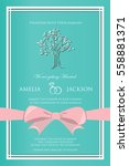 vintage wedding invitation ... | Shutterstock .eps vector #558881371