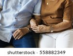 family bonding casual affection ... | Shutterstock . vector #558882349