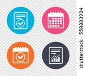 report document  calendar icons.... | Shutterstock .eps vector #558883924
