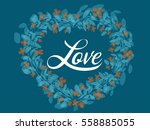 floral wreath created with... | Shutterstock .eps vector #558885055