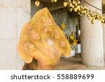 statue near big buddha monument ...   Shutterstock . vector #558889699