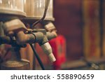 vintage gas pump oil tank and... | Shutterstock . vector #558890659