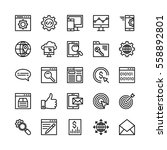 seo and marketing vector icons 1 | Shutterstock .eps vector #558892801