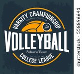 volleyball ball as logo for... | Shutterstock .eps vector #558896641