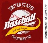 baseball ball for bat and ball... | Shutterstock .eps vector #558896779