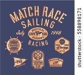 sailing match racing  vector... | Shutterstock .eps vector #558898171