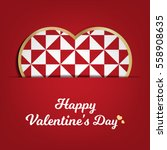 valentines day card  geometric... | Shutterstock .eps vector #558908635