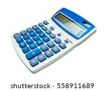 calculator isolated | Shutterstock . vector #558911689