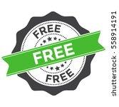 free stamp  sticker  seal....   Shutterstock .eps vector #558914191