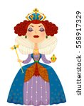 illustration of a woman dressed ... | Shutterstock .eps vector #558917329