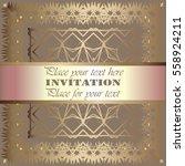 the golden invitation. vintage  ...   Shutterstock .eps vector #558924211