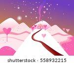 vector illustration. landscape... | Shutterstock .eps vector #558932215