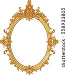 round photo frame  metal gold ...