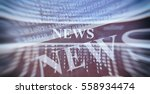 online news concept. abstract... | Shutterstock . vector #558934474