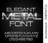 elegant silver gray thin metal... | Shutterstock .eps vector #558934711