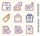 shopping mobile icons  e... | Shutterstock .eps vector #558935329