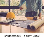 architect concept  architects... | Shutterstock . vector #558942859