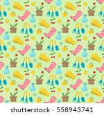 gardening seamless pattern with ... | Shutterstock .eps vector #558943741